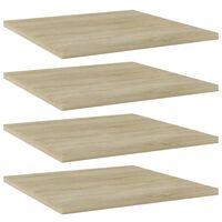 """vidaXL Bookshelf Boards 4 pcs Sonoma Oak 15.7""""x15.7""""x0.6"""" Chipboard"""