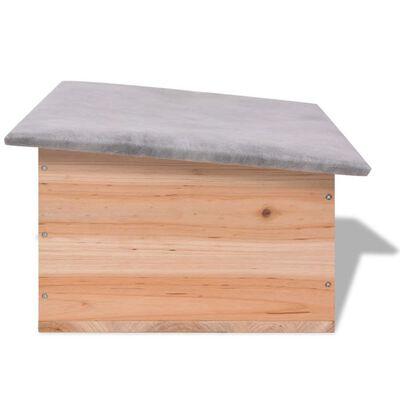 "vidaXL Hedgehog House 17.7""x13""x8.7"" Wood"