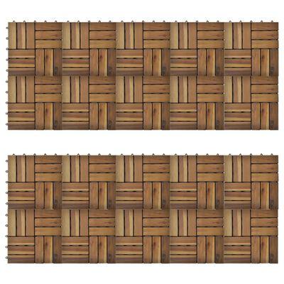 """vidaXL Decking Tiles 11.8""""x11.8"""" Acacia Set of 20"""