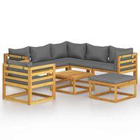 vidaXL 8 Piece Garden Lounge Set with Cushion Solid Acacia Wood