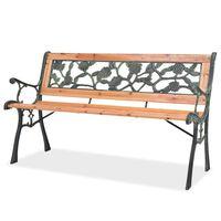 "vidaXL Garden Bench 48"" Wood"