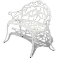 "vidaXL Garden Bench 39.4"" Cast Aluminium White"