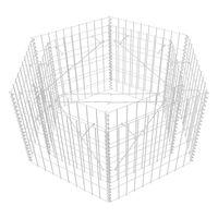 "vidaXL Hexagonal Gabion Raised Bed 39.4""x35.4""x19.7"""