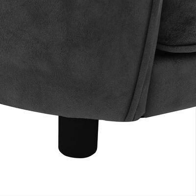 """vidaXL Dog Sofa Dark Gray 27.2""""x19.3""""x15.7"""" Plush"""