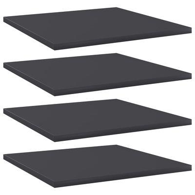 """vidaXL Bookshelf Boards 4 pcs Gray 15.7""""x15.7""""x0.6"""" Chipboard"""