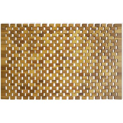 "vidaXL Bath Mat Acacia Wood 31.5""x19.7"" Mosaic"