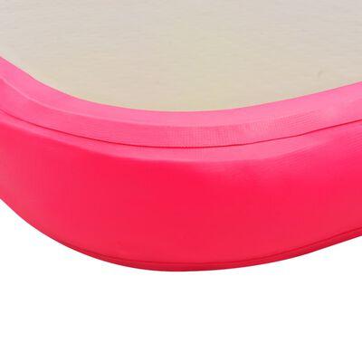 "vidaXL Inflatable Gymnastics Mat with Pump 275.6""x39.4""x3.9"" PVC Pink"