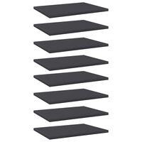 """vidaXL Bookshelf Boards 8 pcs Gray 15.7""""x11.8""""x0.6"""" Chipboard"""