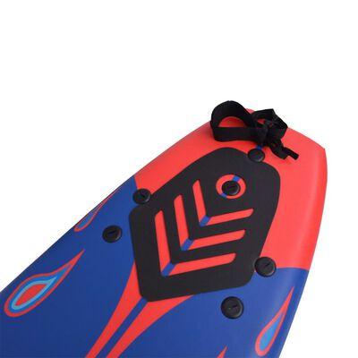 "vidaXL Surfboard Blue and Red 66.9"""