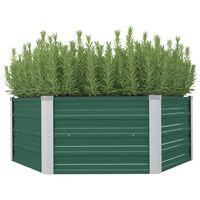 "vidaXL Raised Garden Bed 50.8""x50.8""x18.1"" Galvanized Steel Green"