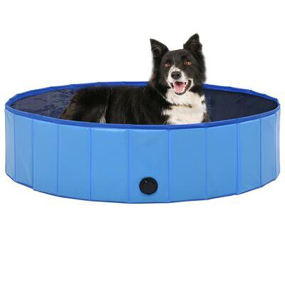 "vidaXL Foldable Dog Swimming Pool Blue 47.2""x11.8"" PVC"