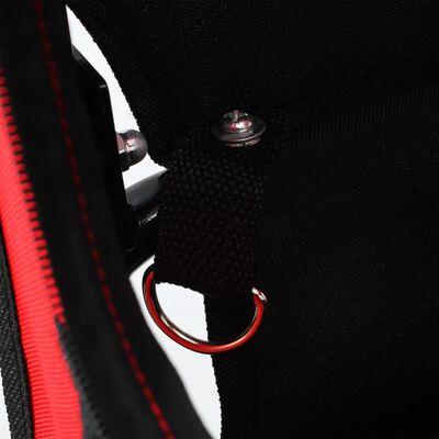 vidaXL 2-in-1 Pet Bike Trailer & Jogging Stroller Red and Black