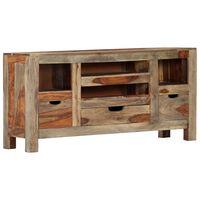 """vidaXL Sideboard Grey 39.3""""x11.8""""x19.6"""" Solid Sheesham Wood"""
