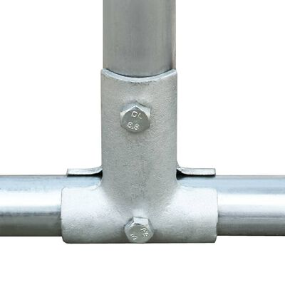 vidaXL Chicken Coop 9.8'x3.3'x4.9' Galvanized Steel