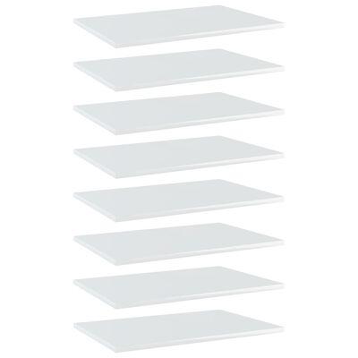 "vidaXL Bookshelf Boards 8 pcs High Gloss White 23.6""x15.7""x0.6"" Chipboard"