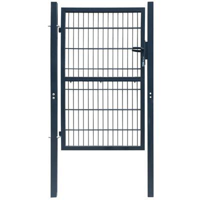 "vidaXL 2D Fence Gate (Single) Anthracite Gray 41.7"" x 74.8"""