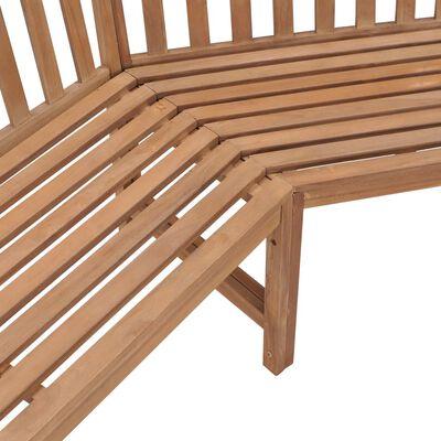 """vidaXL Garden Corner Bench 79.5""""x79.5""""x35.4"""" Solid Teak Wood"""