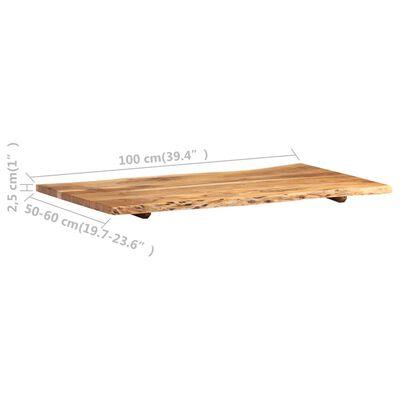 """vidaXL Table Top Solid Acacia Wood 39.4""""x(19.7""""-23.6"""")x1"""""""