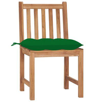 vidaXL Garden Chairs 4 pcs with Cushions Solid Teak Wood
