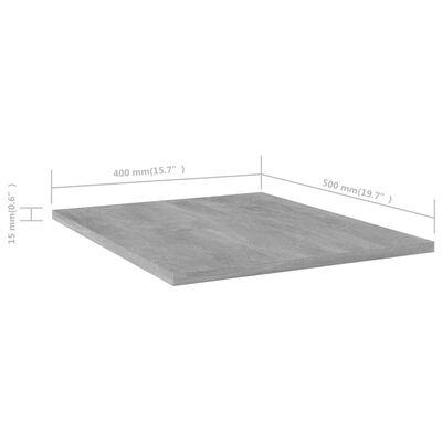 "vidaXL Bookshelf Boards 8 pcs Concrete Gray 15.7""x19.7""x0.6"" Chipboard"