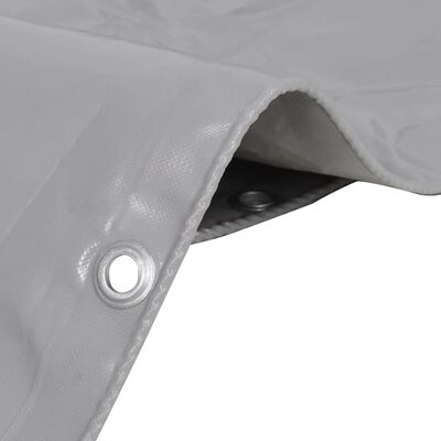 "vidaXL Tarpaulin 650 g/m² 13.1""x23"" Gray"