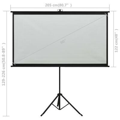 "vidaXL Projection Screen with Tripod 90"" 16:9"