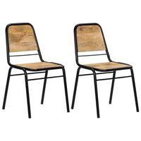 vidaXL Dining Chairs 2 pcs Solid Mango Wood