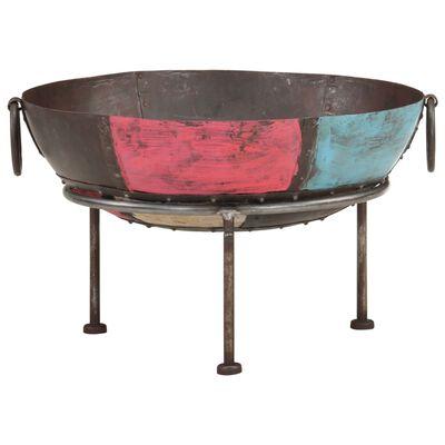 "vidaXL Colorful Rustic Fire Pit Ø 23.6"" Iron"