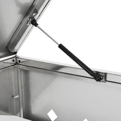 vidaXL Single Wheelie Bin Shed 63.4 gal Stainless Steel