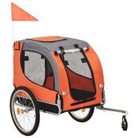 vidaXL Dog Bike Trailer Orange and Gray