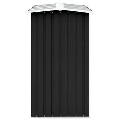 """vidaXL Garden Log Storage Shed Galvanized Steel 129.9""""x36.2""""x60.2"""" Anthracite"""