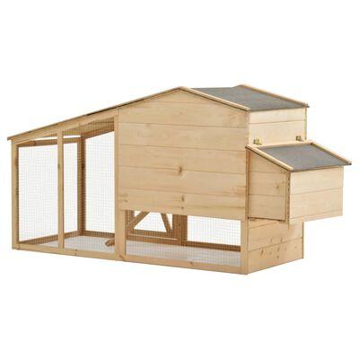 """vidaXL Chicken Cage Solid Pine Wood 70.1""""x26.4""""x36.2"""""""