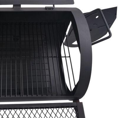 vidaXL BBQ Charcoal Smoker with Bottom Shelf Black Heavy XXL