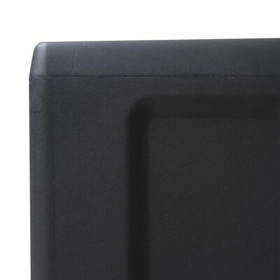 vidaXL Garden Storage Cabinet with 4 Shelves Black and Gray