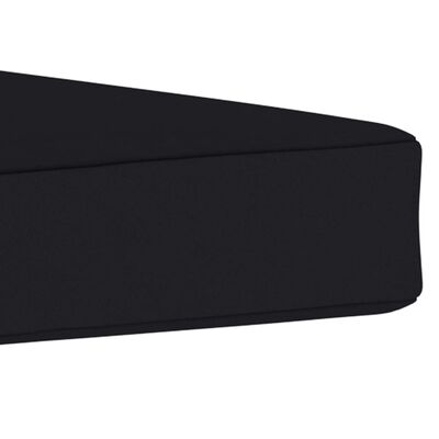 "vidaXL Floor Pallet Cushion 23.6""x23.6""x2.4"" Black Fabric"