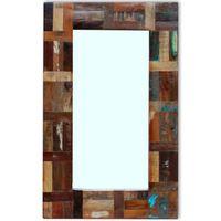 """vidaXL Mirror Solid Reclaimed Wood 31.5""""x19.7"""""""