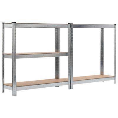 """vidaXL Storage Shelf Silver 35.4""""x11.8""""x70.9"""" Steel and MDF"""