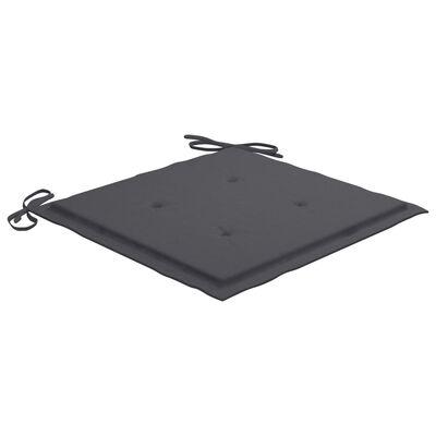 "vidaXL Garden Chair Cushions 6 pcs Anthracite 15.7""x15.7""x1.6"" Fabric"