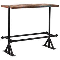 "vidaXL Bar Table Solid Reclaimed Wood Multicolour 47.2""x23.6""x42.1"""