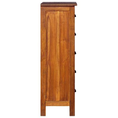 """vidaXL Sideboard 17.7""""x13.8""""x43.3"""" Solid Teak Wood"""