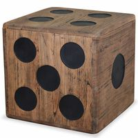 """vidaXL Storage Box Mindi Wood 15.7""""x15.7""""x15.7"""" Dice Design"""