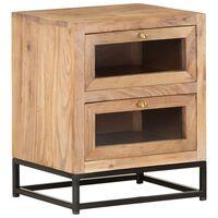 """vidaXL Bedside Cabinet 15.7""""x11.8""""x19.7"""" Solid Acacia Wood"""