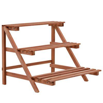 "vidaXL 3-Tier Plant Stand Cedar Wood 18.9""x17.7""x15.7"""