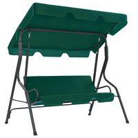 "vidaXL Garden Swing Bench Green 66.9""x43.3""x60.2"" Fabric"