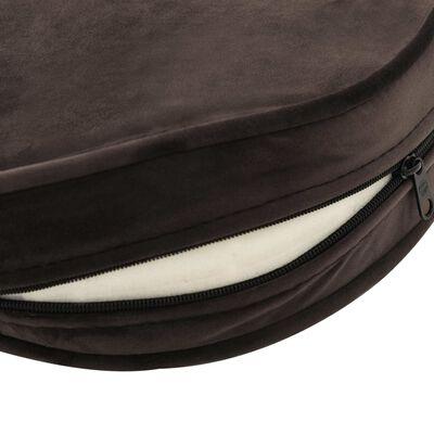 "vidaXL Dog Sofa Brown 18.9""x18.9""x12.6"" Plush and Faux Leather"