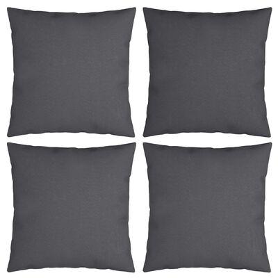 """vidaXL Throw Pillows 4 pcs Anthracite 15.7""""x15.7"""" Fabric"""
