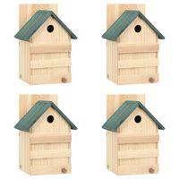 "vidaXL Bird Houses 4 pcs 9.1""x7.5""x13"" Firwood"