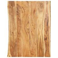"""vidaXL Table Top Solid Acacia Wood 31.5""""x(19.7""""-23.6"""")x1"""""""
