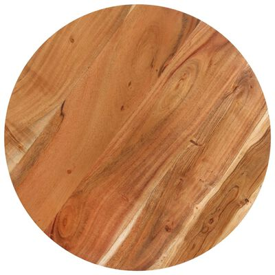"vidaXL Bar Table Round Ø23.6""x43.3"" Solid Acacia Wood"