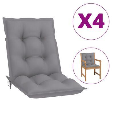 "vidaXL Garden Chair Cushions 4 pcs Gray 39.4""x19.7""x2.8"""